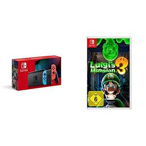 Nintendo Switch Console - Neon Red/Blue (New Edition) + Luigi's Mansion 3 £282.49 @ Amazon Germany