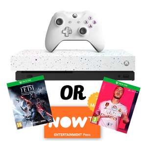 Xbox One X 1TB Hyperspace Special Edition Console + FIFA 20 OR Star Wars Jedi Fallen Order + NOW TV - £269.99 @ Game