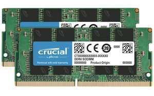 Crucial 16 GB Kit (8 GB x2) (DDR4, 2400 MT/s Single Rank) - £41.95 @ Amazon