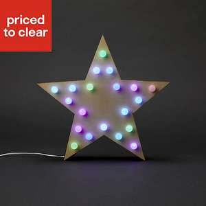 Colour changing LED Star Silhouette £5 at B&Q