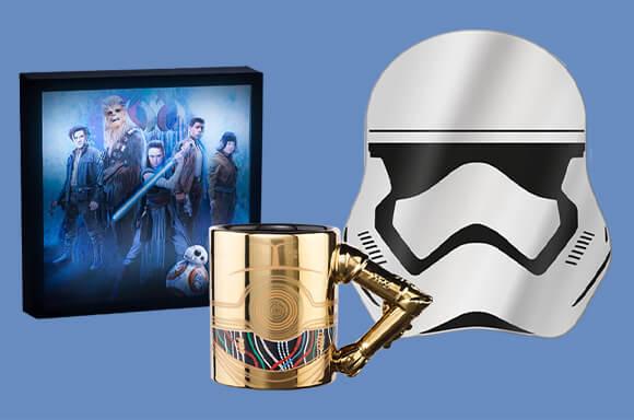 Stormtrooper Mirror, C-3PO Arm Mug & Last Jedi Luminart - £18.98 delivered @ Zavvi