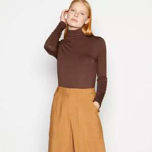 Chocolate 'Ultimate' Roll Neck Top £10 at Debenhams + free Click and Collect