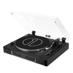 1byone Record Player 3-Speed Semi-Automatically Belt-Driven Turntable - £29.99 using voucher - Sold by Giant Jupiter and Fulfilled by Amazon