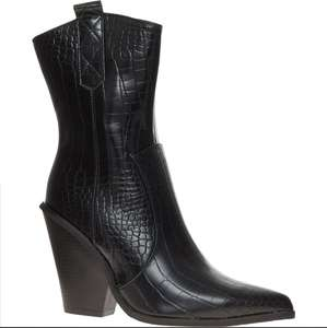 SERGIO TODZI Black Reptile Heeled Western Boots £19.99 + £1.99 click and collect / £3.99 delivery @ Tk Maxx