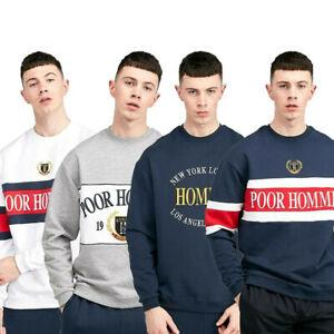 Mens Poor Homme Sweatshirts - 4 Styles Available £4.99 delivered @ bigbrandoutlet2015 / eBay