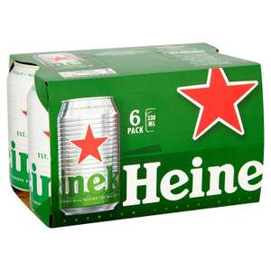 Heineken Lager Beer Can, 6 x 330ml £4 (Prime Members Only - minimum £15 spend + £3.99 delivery) @ Amazon Pantry