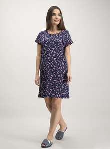 Christmas Navy Candy Cane Print Nightdress £4 @ Tu (Free C&C with orders over £20)