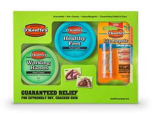 O'Keeffe's Skincare Working Hands, Healthy Feet and Lip Repair, Jar Multipack £8.64 (Prime) £13.13 (Non-Prime) @ Amazon