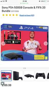 Sony PS4 500GB Console & FIFA 20 Bundle - £199.99 @ Argos