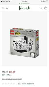 Lego Ideas Steamboat Willie 21317 at Fenwick for £63.99