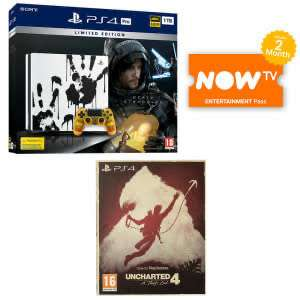 Limited Edition Death Stranding PS4 Pro Bundle - Uncharted 4 - The Only on PlayStation Collection + NOW TV 2 Months Pass £279 @ Game