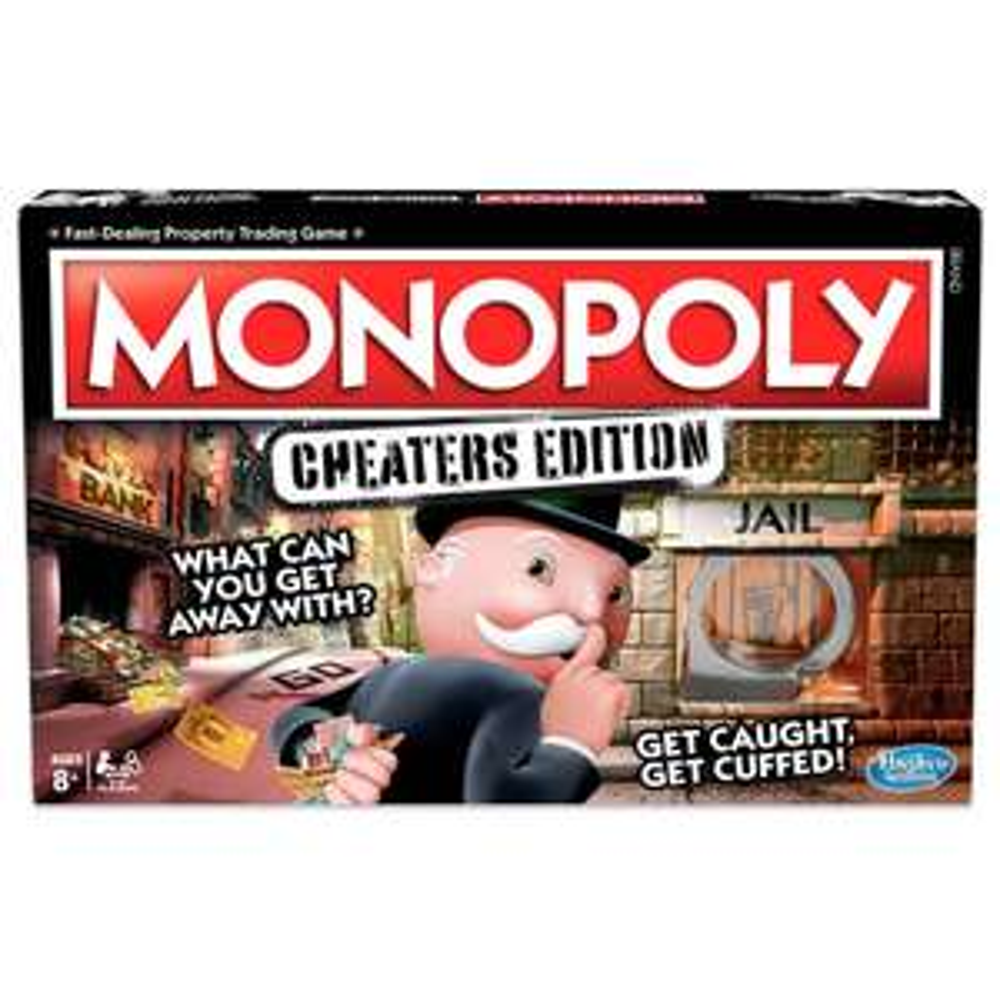 Hasbro Monopoly cheaters edition £11.70 (Prime) / £16.19 (non Prime) at Amazon