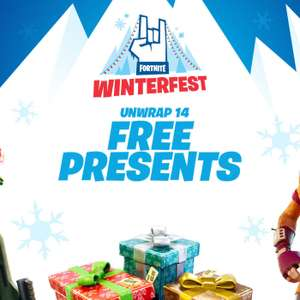 A Free Fortnite gift everyday for the next 14 days - e.g includes 2 outfits, 2 gliders + two people can now play together on one console