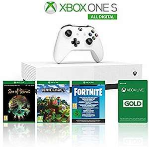Xbox One S 1TB All Digital Edition Console + 1 Month Xbox Live Gold + 3 Digital Games £117.76 Amazon Italy
