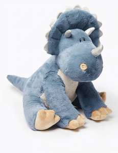 Large Dinosaur Triceratops soft toy now £19.75 Marks & Spencer - free Collect from store