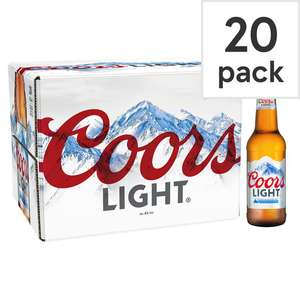 40x Coors Light 330Ml £20 Tesco in store and online