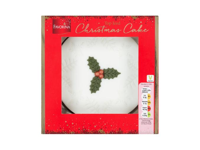 Favorina Top Iced Christmas Cake £2.14 @ Lidl Tamworth