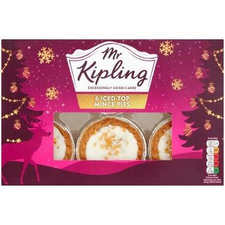 Mr. Kipling iced mince pies 6 pk at Lidl £0.62