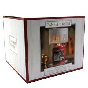 Yankee Candle Winter Village Festive Lamp Shade & Tray £10 with free delivery @ Yankee Bundles