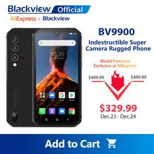 Blackview BV9900 Helio P90 Octa Core 8GB RAM + 256GB Rugged smartphone for £387.75 delivered @ AliExpress Deals / Blackview Official Store