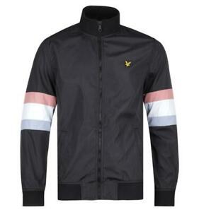 Mens Lyle & Scott True Black Track Jacket Regular Fit Funnel Neck Collar Size Large £27.62 Delivered (With Code) @ Brown Bag Outlet / eBay