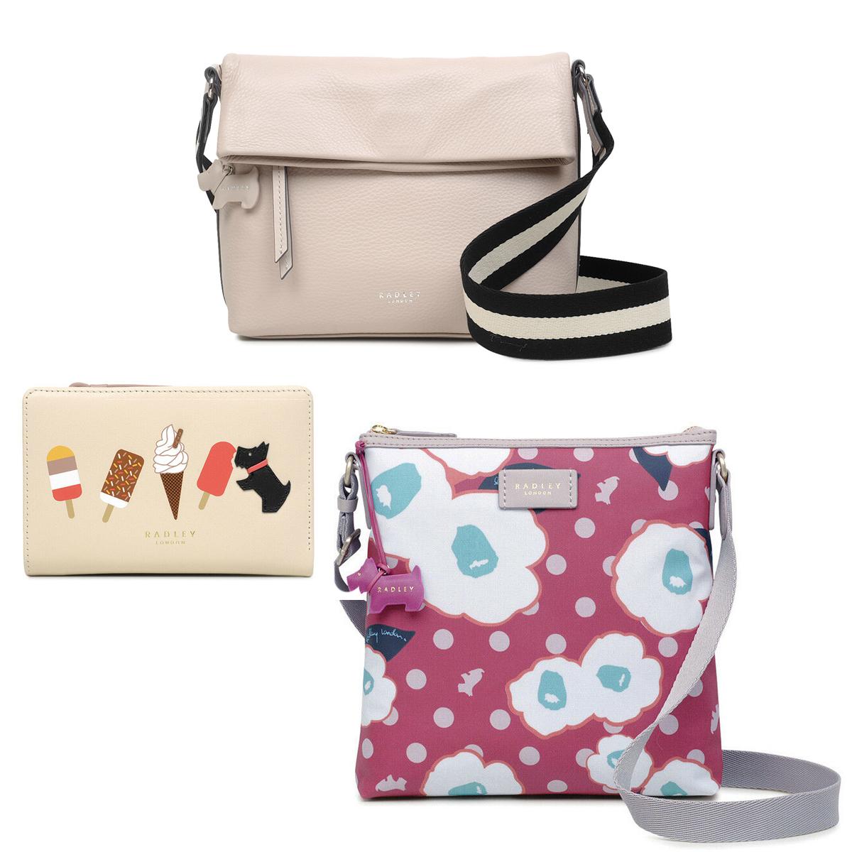 Radley London Discounts - EG: Hollyhock Medium Zip-Top Cross Body Bag Pink £36.55 Delivered @ eBay / radleyofficialoutlet