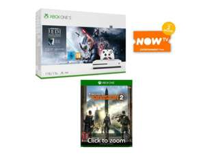 Xbox One S 1TB w/ Star Wars Jedi Fallen Order or Gears 1-5 Bundle + The Division 2 and 2 Months NOW TV - £179 Delivered @ Game