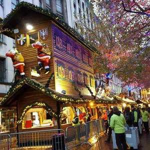 Christmas Eve - Birmingham's German Market is giving away 300 free Christmas trees outside Apple Store