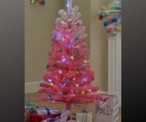 Argos Home 4ft Christmas Tree - Pink Ombre £5.62 with Free Click & Collect @ Argos