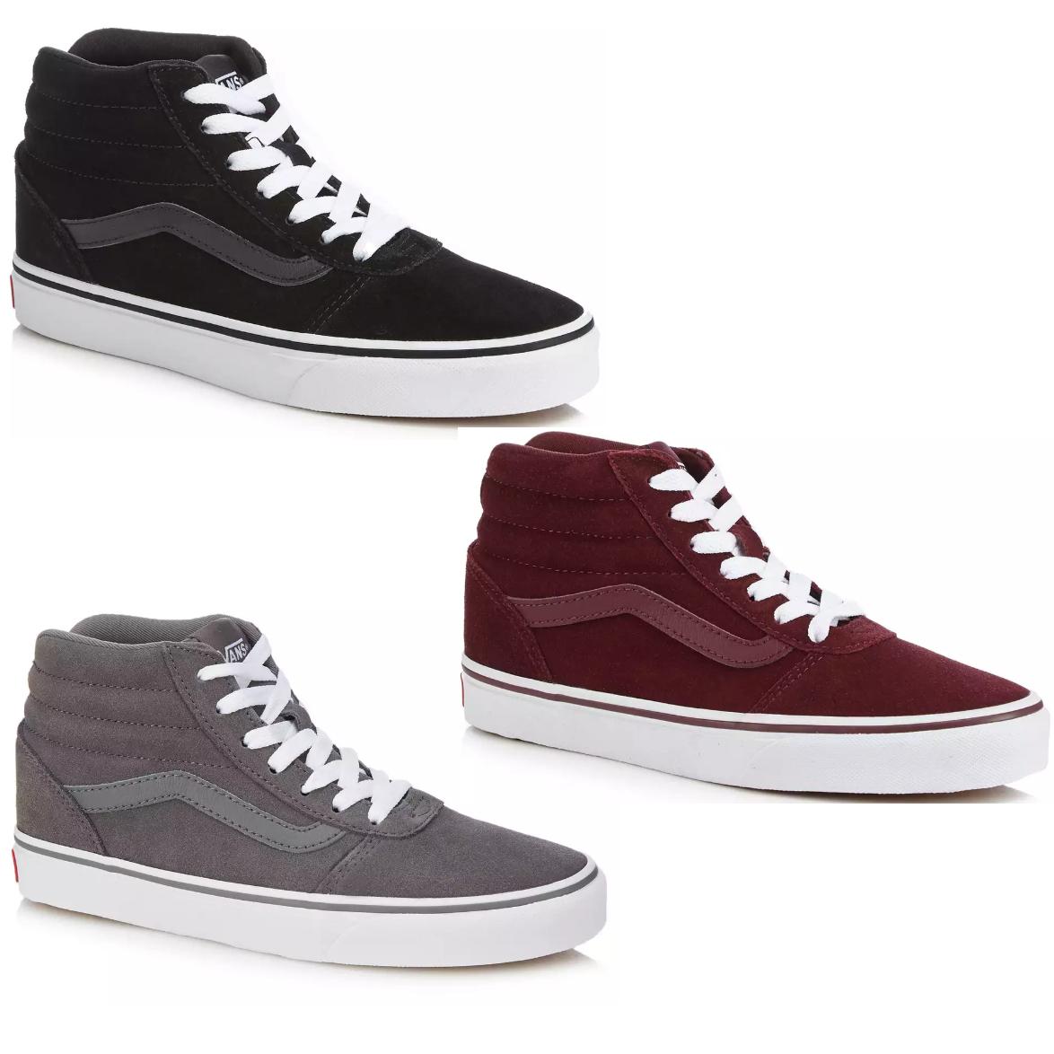 Women's Vans - Suede 'Ward' high-top trainers in Black, Grey or Maroon (was £60) Now £30 @ Debenhams
