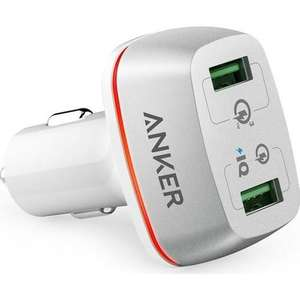Anker PowerDrive+ 2 Ports 42W Dual USB Car Charger with Quick Charge 3.0 £8.99 @ Mymemory