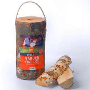 Woodensoul Garden Fire Logs - two for £12 (click & collect) @ Homebase