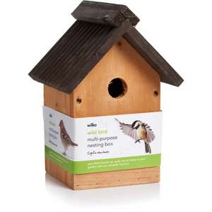 Wilko Wild Bird Nesting Box £3 @ Wilko instore + £2 Click and Collect