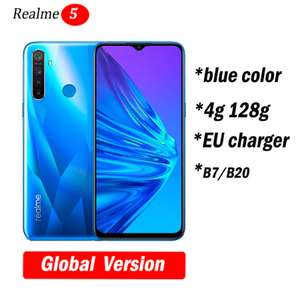 realme 5 Global version Snapdragon 665 4GB ram with 128GB storage for £123.67 delivered @ AliExpress Deals / hongkong willvast Store