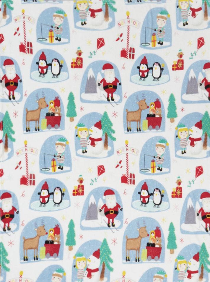 Kids Christmas fleece throw blanket £3 free c&c @ Matalan