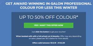 Treat yourself this winter & get 50% OFF colour, with a full priced cut & blowdry @ rush