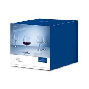 Villeroy & Boch Ovid Red Wine Glasses, Crystal Glass, Clear, 590 ml, Set of 4 £12.60 + £4.49 NP @ Amazon