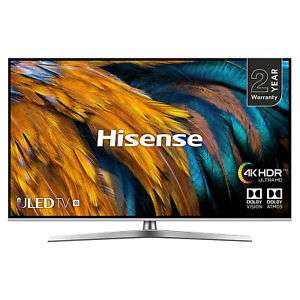 "Hisense H55U7BUK (2019) ULED HDR 4K Ultra HD Smart TV, 55"" with Freeview Play, Black/Silver £439 @ hughesdirect / eBay"