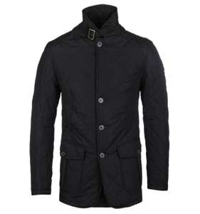 Barbour black quilted Lutz jacket - £118.30 @ Woodhouse Clothing