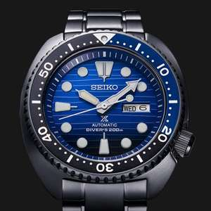 Seiko Prospex Save The Ocean Turtle Automatic Watch Special Black Edition at Simpkins Jewellers for £299