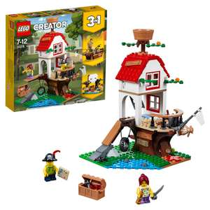 LEGO 31078 Creator Treehouse Treasures Playset, 3 in 1 Model, Toy Ship and Cave, Construction set £16 (Prime) £20.49 (Non-Prime) @ Amazon