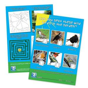Free activity sheets and stickers at CJ Wildlife