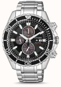 Citizen Mens Eco-Drive Promaster Diver Stainless Steel Bracelet CA0711-80H £209 @ First Class Watches