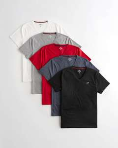 Must-Have V-Neck T-Shirt 5-Pack @ Hollister for £26.77