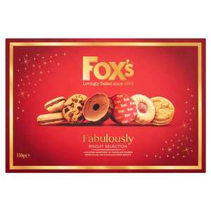 Fox's Fabulously Biscuit Selection 550G £2.50 @ Tesco