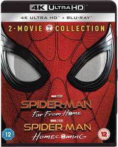 Spider-Man Far From Home & Spider-Man Homecoming [4K Ultra HD + Blu-ray] [2019] [Region Free] £32 @ Amazon