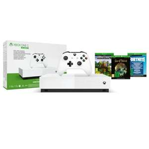 Xbox One S 1TB All Digital Edition V2 Including Sea of Thieves, Minecraft and Fortnite: Battle Royale £139 @ Game