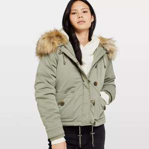 Khaki short Parker coat £18 with free express delivery @ Miss Selfridge