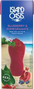Island Oasis Blueberry and Pomegranate mix 1L Carton 2 for £1 @ Heron