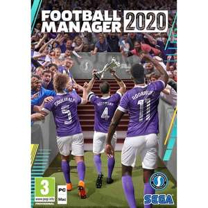 Football Manager 2020 - £19.99 (£14.99 New Customers) PC @ Smyths Toys